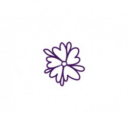 Fleur en flex thermocollant