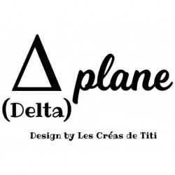 "Texte Humour en flex thermocollant ""Delta Plane"""