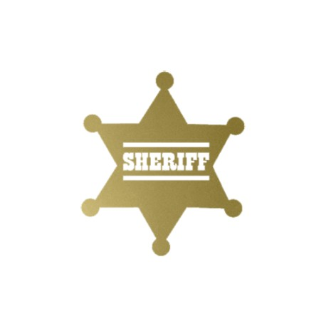 appliqué thermocollant badge sheriff