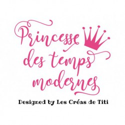 appliqué thermocollant princesse moderne