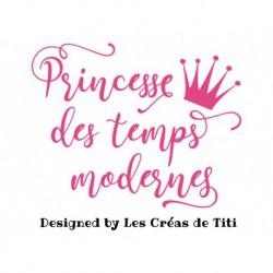 """Texte à thermocoller """"Princess des temps modernes"""""""
