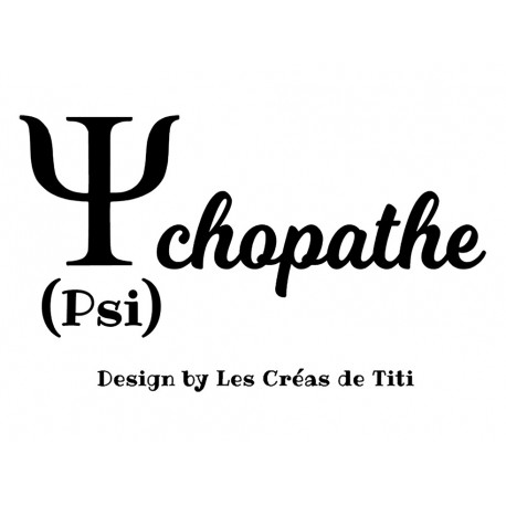 appliqué thermocollant psychopathe