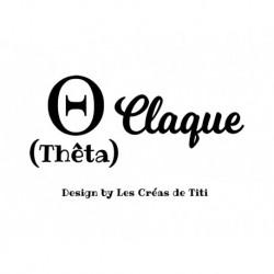 """Texte humour grec """"Thêta claque"""" en flex thermocollant"""