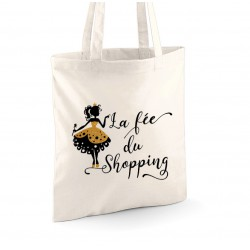 "Tote Bag ""La fée du Shopping"""
