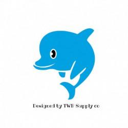 appliqué thermocollant dauphin