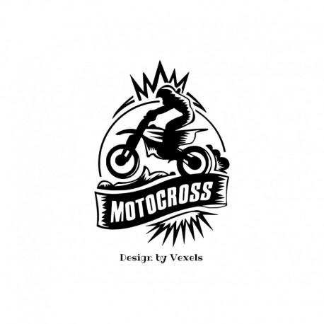 appliqué en flex thermocollant motocross