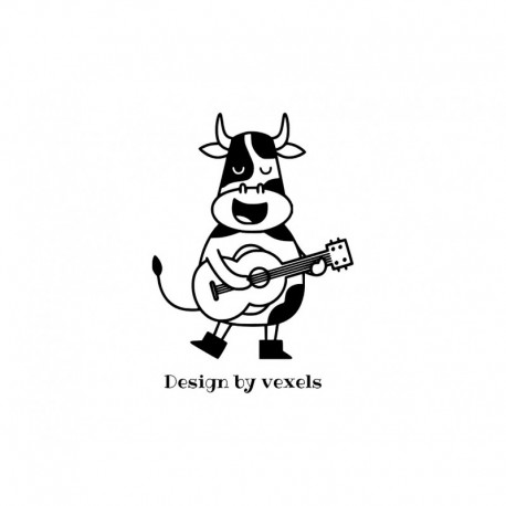 appliqué thermocollant vache