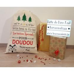 Sac du Père Noël Personnalisé Modèle Sapins