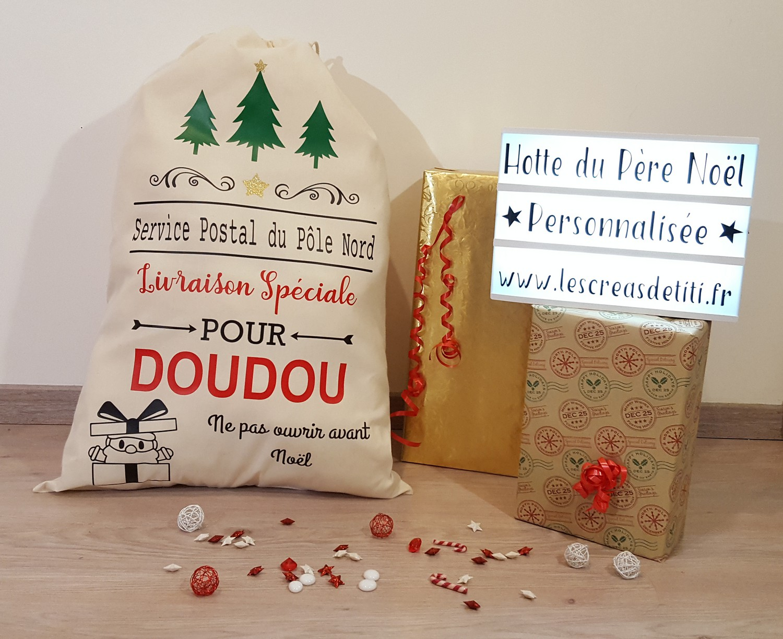Lettre Au Pere Noel Personnalise.Hotte Du Pere Noel Personnalisee Grand Sac Du Pere Noel