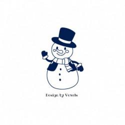 Motif thermocollant Bonhomme de neige V1