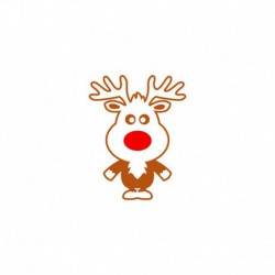 Appliqué en flex thermocollant Rennes Rudolf