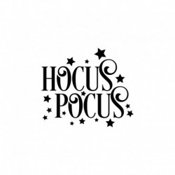 Texte en flex thermocollant Halloween Hocus Pocus