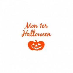 "Texte en flex thermocollant ""Mon premier Halloween"""