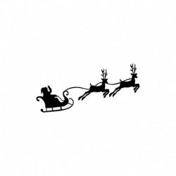 Appliqué en flex thermocollant Père Noel sur son traineau V1