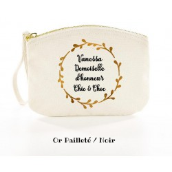 Pochette-demoiselle-d'honneur-personnalisée