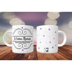 Mug personnalisable Je t'aime Maman