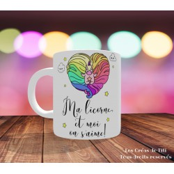 Mug Ma licorne et moi on s'aime