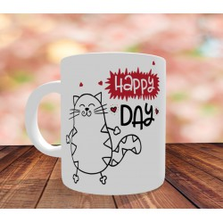 Mug Happy Day cat