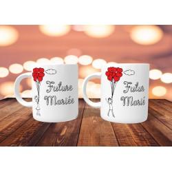 Duo de Mugs pour Futurs Mariés