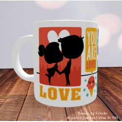Mug Love mots d'amour - Impression Recto/Verso