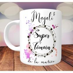 Mug personnalisé Super Témoin- impression recto verso