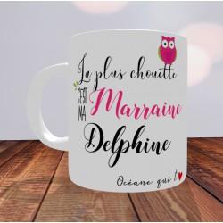 Mug La plus chouette c'est ma Marraine - PERSONNALISABLE-