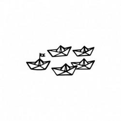 Bateaux Origami en flex thermocollant