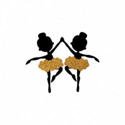 Duo de Danseuses en flex thermocollant - Modèle 2 - 2 Tailles au choix