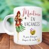 Mug Maîtresse en vacances - Cadeau fin d'année