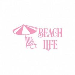 """Texte thermocollant """"Beach Life""""- Couleur au choix"""