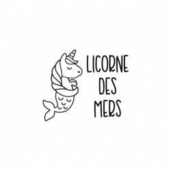 Licorne des mers flex thermocollant - Taille au choix