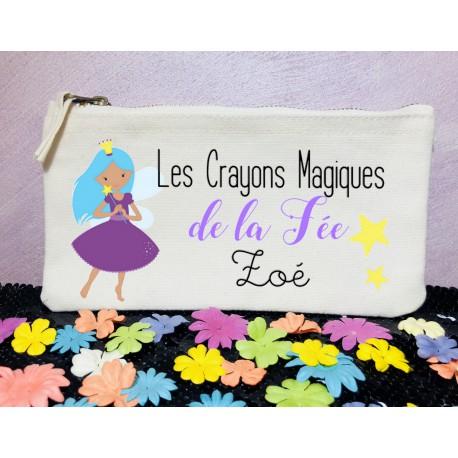 trousse_ecole_personnalisée_fée_crayons_magiques_trousse_prénom_rangement_crayons_personnalisés