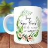Mug Super Témoin Modèle Hawai - Personnalisé prénoms et date
