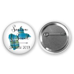 Badge Personnalisé Carte Guadeloupe - Badge mariage/Baptême