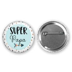 badge_super_papa_theme_boho_bleu_pastel_fleches_badge_papa