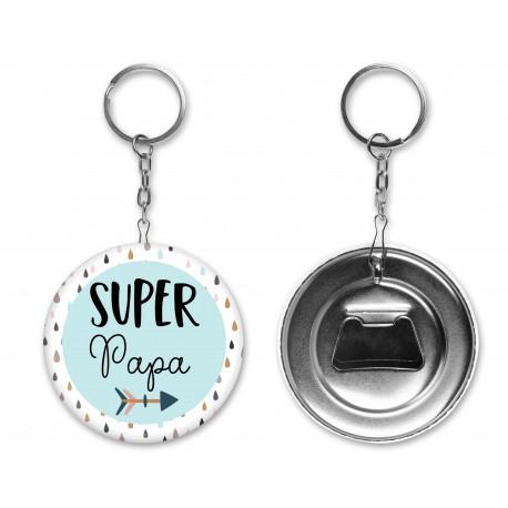badge_porte_clés_super_papa_personnalisé