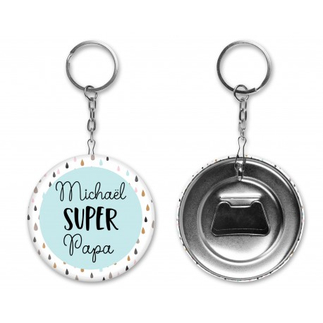 badge_porte_cle_decapsuleur_cadeau_super_papa_badge_personnalisé_super_papa_prenom
