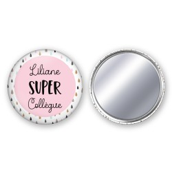 badge_miroir_personnalisé_super_collegue_cadeau_super_collegue