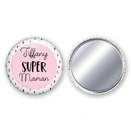 badge_miroir_super_maman_personnalisé_prénom