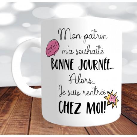 Fantastique Mug Bonne journée patron - Mug Spécial humour au travail - Version JK-29