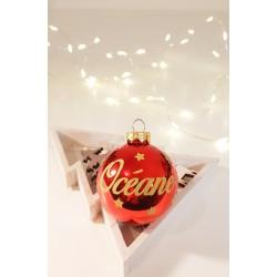 Boule de Noël Rouge personnalisée - Déco cadeau de Noël