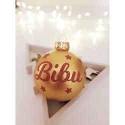 Boule de Noël Or personnalisée - Déco cadeau de Noël