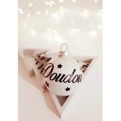 Boule de Noël Blanche personnalisée- Une déco personnalisée pour votre sapin