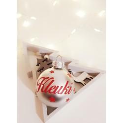 Boule de Noël Argent personnalisée - Mat ou Brillant - Un cadeau original