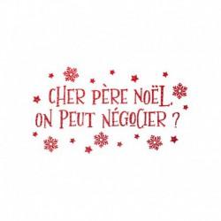 Texte thermocollant Cher Père Noël on peut négocier? - Transfert textile