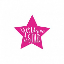 You are a star - Texte thermocollant taille au choix