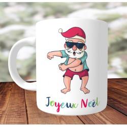 Mug Père noel Floss- Mug cadeau de Noël - Impression recto /verso