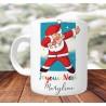 Mug Personnalisé Santa Dab - Mug cadeau de Noël avec prénom