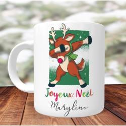 Mug Personnalisé Rennes Rudolph DAB - Mug cadeau de Noël