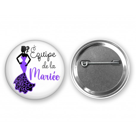 badge_epingle_equipe_de_la_mariée_violet